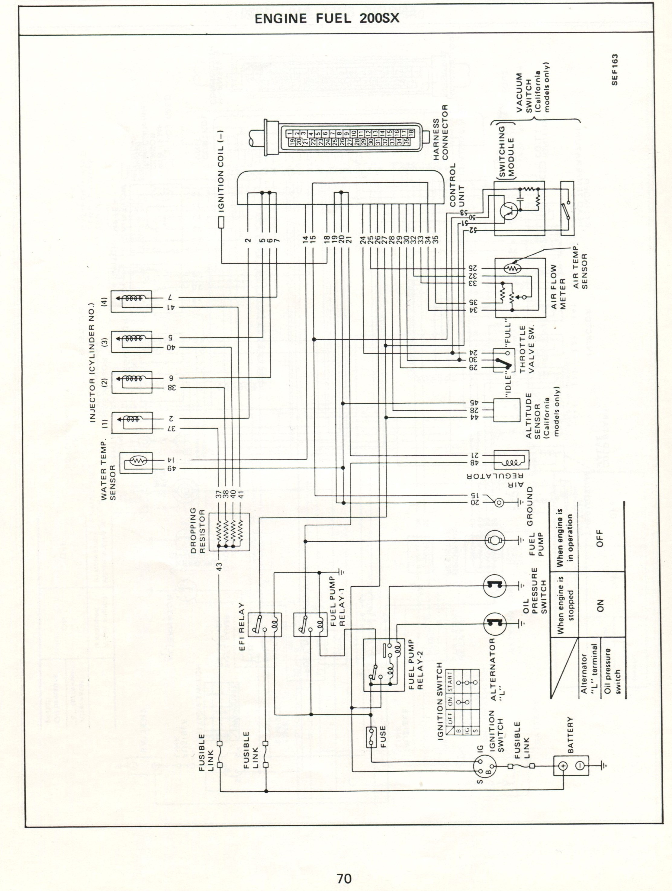 Wiring Diagram For 1988 Nissan 300zx Library Datsun Electronic Fuel Injection Diagrams Rh Datsunforum Com Wire