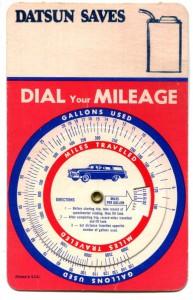 "Datsun ""slide chart"" pocket calculators"