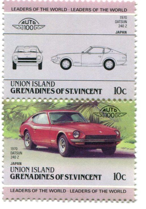 Datsun 240Z postage stamp
