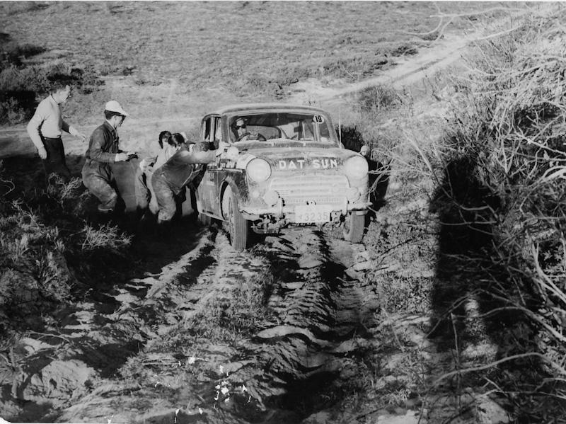 1958 Datsun Mobil Gas Rally