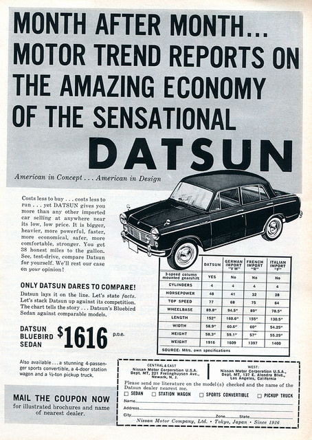 1961 datsun sedan