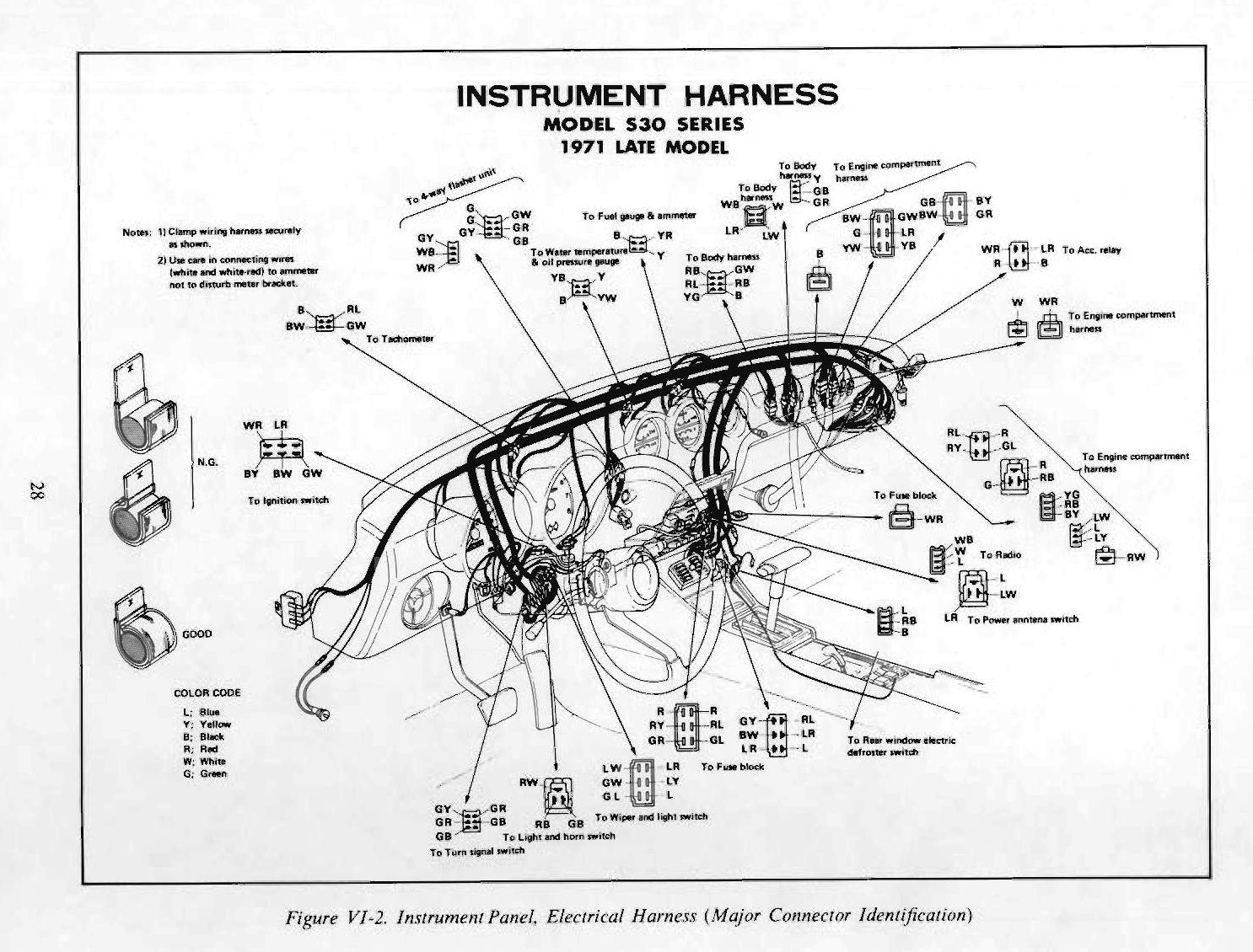 datsun 240z 1971 fsm supplement dash  gauges  wiring  hvac hvac wiring diagrams hvac wiring diagrams hvac wiring diagrams hvac wiring diagrams