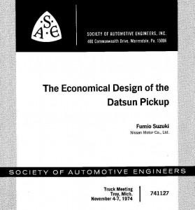 Datsun Pickups – Design and Manufacturing