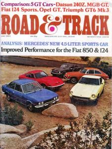 Road & Track – July 1971 comparison test 240Z