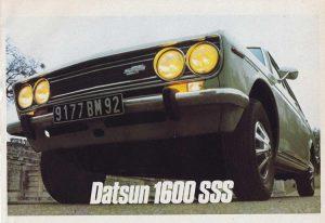 Datsun 1600 SSS Brochure from France