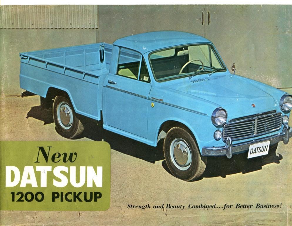 1963 Datsun Pickup Truck Dealer Brochure - Datsun ...